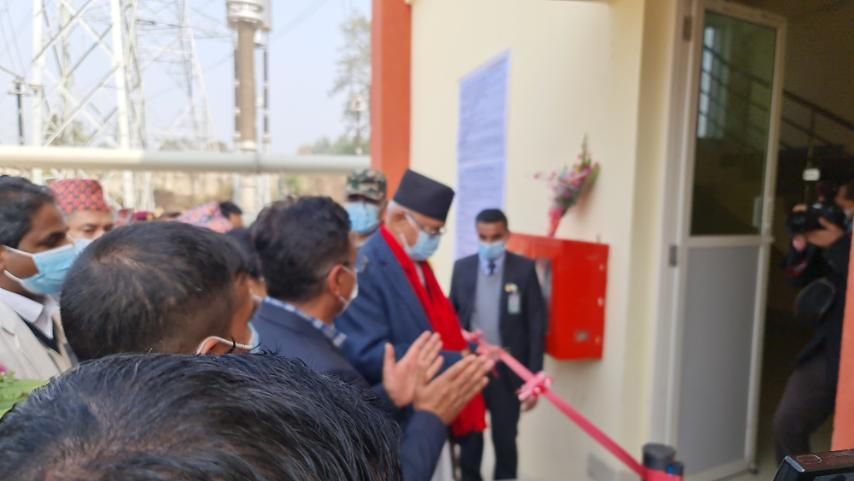 PM Oli inaugurates 400 kVA Dhalkabar substation