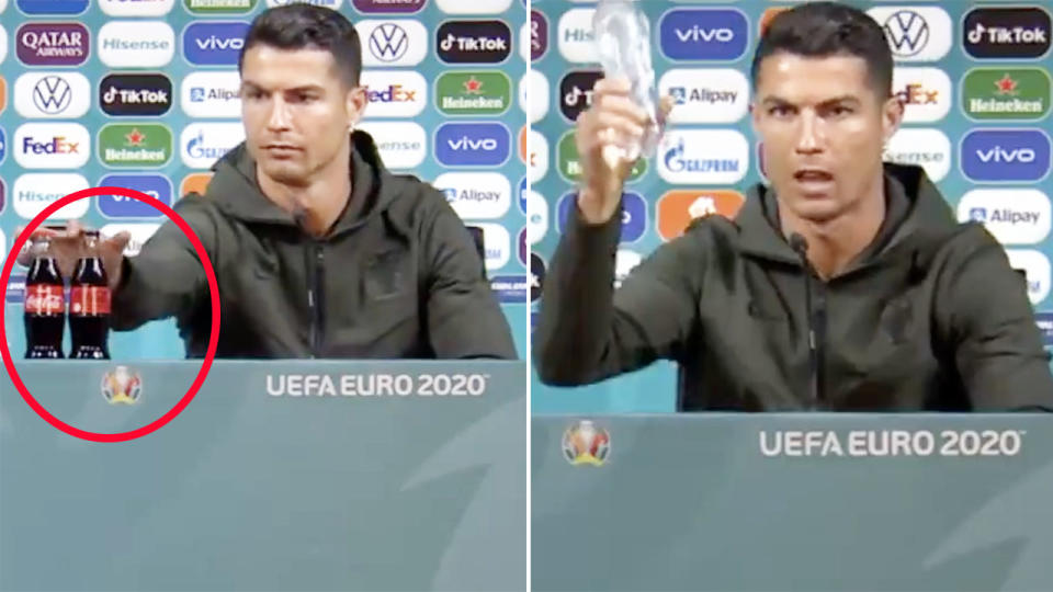 Coca-Cola lose $4 billion after Cristiano Ronaldo moves bottle and 'endorses' water