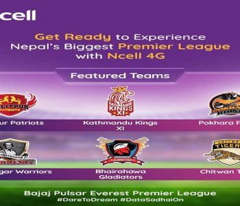 Bajaj Pulsar Everest Premier League connected by Ncell