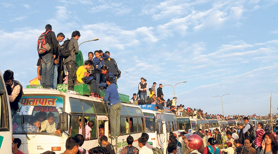 Pre-booking of bus tickets for Dashain festival opens today