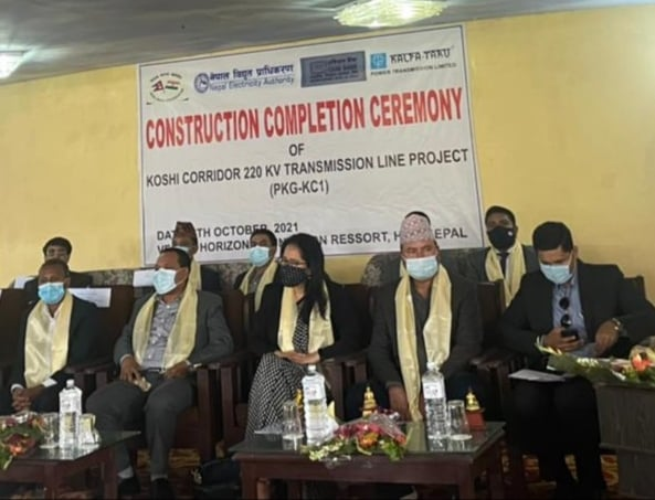 Construction of the Koshi Corridor Power Transmission Line completes